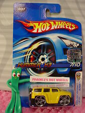 2005 #7 FE Hot Wheels HUMMER H3 #37☆Yellow;pr5☆BLINGS First Editions☆ms hologram