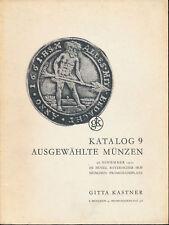 HN KASTNER Katalog 9 November 1975 Munchen Ausgewahlte Munzen Monete tedesche