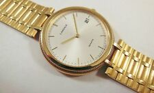 Lassale by Seiko Gold Tone Stainless Steel 5L14-6A30 Sample Watch NON-WORKING