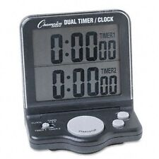 Champion Sport Dual Timer Stop Watch - 1 Day - Desktop, Wall Mountable - For