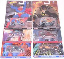 Hot Wheels PoP Culture DC Comics Complete set of 6 Cars Batman Superman