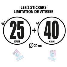 2 LIMITATIONS VITESSE BUS TRACTEUR POIDS LOURD ADHÉSIF - STICKERS