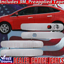 2012 2013 2014 2015 2016 2017 FORD FOCUS Chrome Door Handle COVERS W/Smart Key