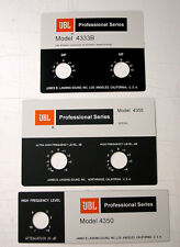JBL 4333, 4355, 4350 Foilcal Badges Pure ALUMINUM QUALITY and NEW!