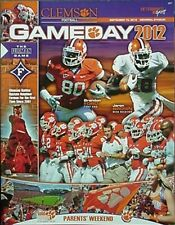 2012 CLEMSON vs FURMAN FOOTBALL PROGRAM (JARON BROWN, BRANDON FORD CVR