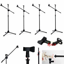4PACK Telescoping Microphone Boom Stand Mic Arm Tripod Stage Studio Holder Clip