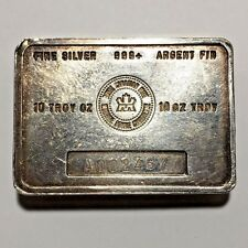 * Vintage RCM Royal Canadian Mint 10 oz 999 Silver Bar ~ Scarce *