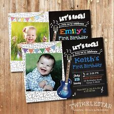 Music / Guitar Birthday Invitation - Personalized - Digital Printable File