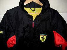 SCUDERIA FERRARI FORMULA 1 RACING NYLON JACKET-MULTI EMBROIDERED LOGOS-NWOT- M/L