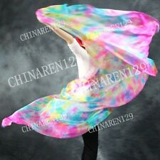 HAND MADE TIE-DYE BELLY DANCE 100% SILK VEILS (5.0 M/M) mixed color 9999
