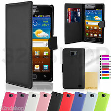 32nd Book Wallet Case Cover Samsung Galaxy S Phones + Stylus & Screen Protector