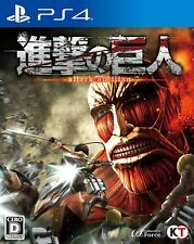 Used PS4 Attack on Titan Free Shipping with tracking number