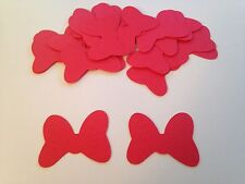50 Large Red Minnie Mouse Bow Die Cut Cutout Confetti Embellishment Scrapbook
