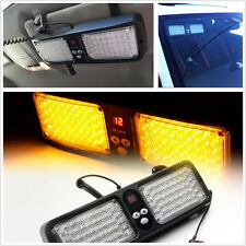 Amber 86LED Car SUV Sun Visor Mount Lamp Emergency Warning Strobe Flashing Light
