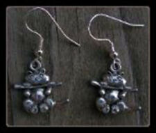 Silver Plated Pewter Cat Hanging From a Limb Earrings