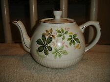 Vintage Genuine Heatmaster England Teapot-Floral Teapot W/Gold Trim-Lovely
