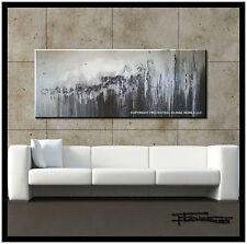 ABSTRACT PAINTING MODERN CANVAS WALL ART Signed 60in. US ELOISE