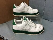 EUC! SIZE 6.5Y NIKE AIR FORCE ONES # 314192-996 WHITE GREEN