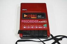 1980s Red Portable Cassette Tape Recorder Player GPX C620 with Shoulder Strap