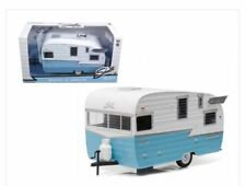 SHASTA 15' AIRFLYTE CAMPER TRAILER BLUE 1/24 DIECAST MODEL BY GREENLIGHT 18229