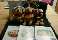 POOH PALOOZA!! Honey Bee Pooh-Pirate Pooh & Just Pooh plushes, books & plate