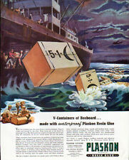 1943 PLASKON RESIN GLUE  AD- LOF -  V-CONTAINERS