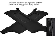 GREY STITCHING FITS FORD MUSTANG 99-04 2X SUN VISORS LEATHER COVERS ONLY
