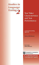 Test Taker Characteristics and Test Performance: A Structural Modeling Approach: