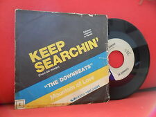 THE DOWNBEATS Keep Searchin Mountain Of Love 7/45 RARE ITALIAN SURF BEAT Veddete