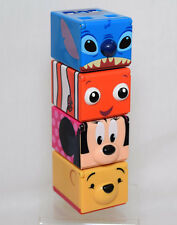 4 Disney Cubee Musical Stackable Cubes Stitch Nemo Pooh Minnie Music Blocks