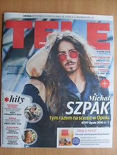 MICHAL SZPAK - Poland - Eurovision 2016 on front cover TELE MAGAZYN 22/2016