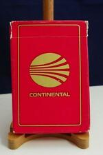 Vintage Continental Air Lines Playing Cards Deck Sealed Box Open 2 1/4' x 3 1/2""