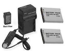 TWO 2 Batteries + Charger for Sony MHS-PM1V MHS-PM5L MHS-PM5P MHS-PM5V MHS-PM5W