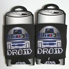 2 STAR WARS Soda Beer Can Bottle Koozie Coozie Cooler Huggie Lot Vtg R2-D2 NEW