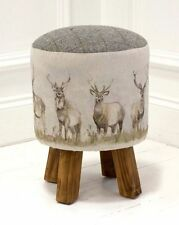 Voyage Monty Stool / Footstool - 'Mooreland Stag' - Available NOW Best Price!!