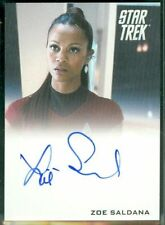 STAR TREK MINT Autograph ZOE SALDANA AUTO UHURA AVATAR GUARDIANS OF THE GALAXY
