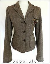 RIVER ISLAND TWEED JACKET HACKING RIDING EQUESTRIAN HERITAGE ELBOW PATCHES 12