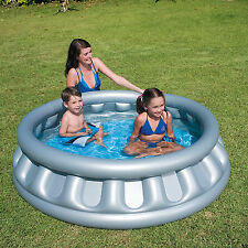 Kids Swimming Garden Summer Inflatable Spaceship Paddling Pool New Grey.