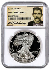 2000-P Proof American Silver Eagle NGC PF69 UC (Doc Holliday Label) SKU43579