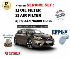 FOR NISSAN PULSAR 1.2 DIG T 2014--> NEW OIL AIR POLLEN ( 3 ) FILTER SERVICE KIT