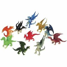 12 Dragon Figures Toy Cupcake Party Topper Princess Knight Design King Pete