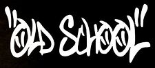 OLD SCHOOL DECAL STICKER 14 COLORS CAR FORD CHEVY DODGE HONDA MAZDA VW JDM EURO