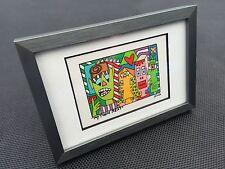 """James RIZZI: Original Farblithographie """"MY TURN NEXT"""", 3D Vorlage, gerahmt, 2002"""