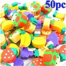 50Pcs Goma de Borrar lápiz Borrador Fruta BORRADORES Escolar Niños juguete Lindo