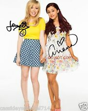 """Ariana Grande & Jennette McCurdy as Sam & Cat 8x10"""" reprint Signed Photo #1 RP"""