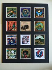 "GRATEFUL DEAD 14"" BY 11"" LP COVERS PICTURE MOUNTED READY TO FRAME"