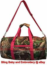 Duffel Bag Carry On Mossy Oak Realtree Pattern Camouflage Camo Gym Field Pink