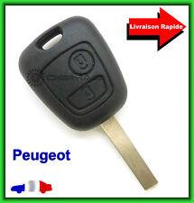 Coque Télécommande Plip Bouton Clé Peugeot 107 207 307 + Lame vierge