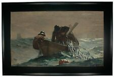 Winslow Homer The Herring Net -Black Gallery Framed Canvas Print Repro 25 x 38