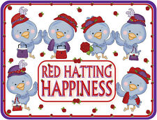 4X PURPLE T SHIRT RED HAT BLUE BIRDS OF HAPPINESS FOR RED HAT LADIES OF SOCIETY